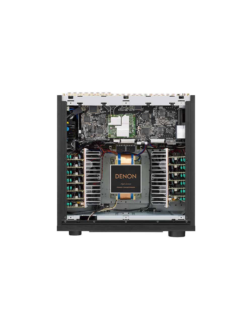 Amplificatore AV 13.2 canali 4K Ultra HD con Audio 3D e HEOS, Denon AVC-X8500H, vista interno