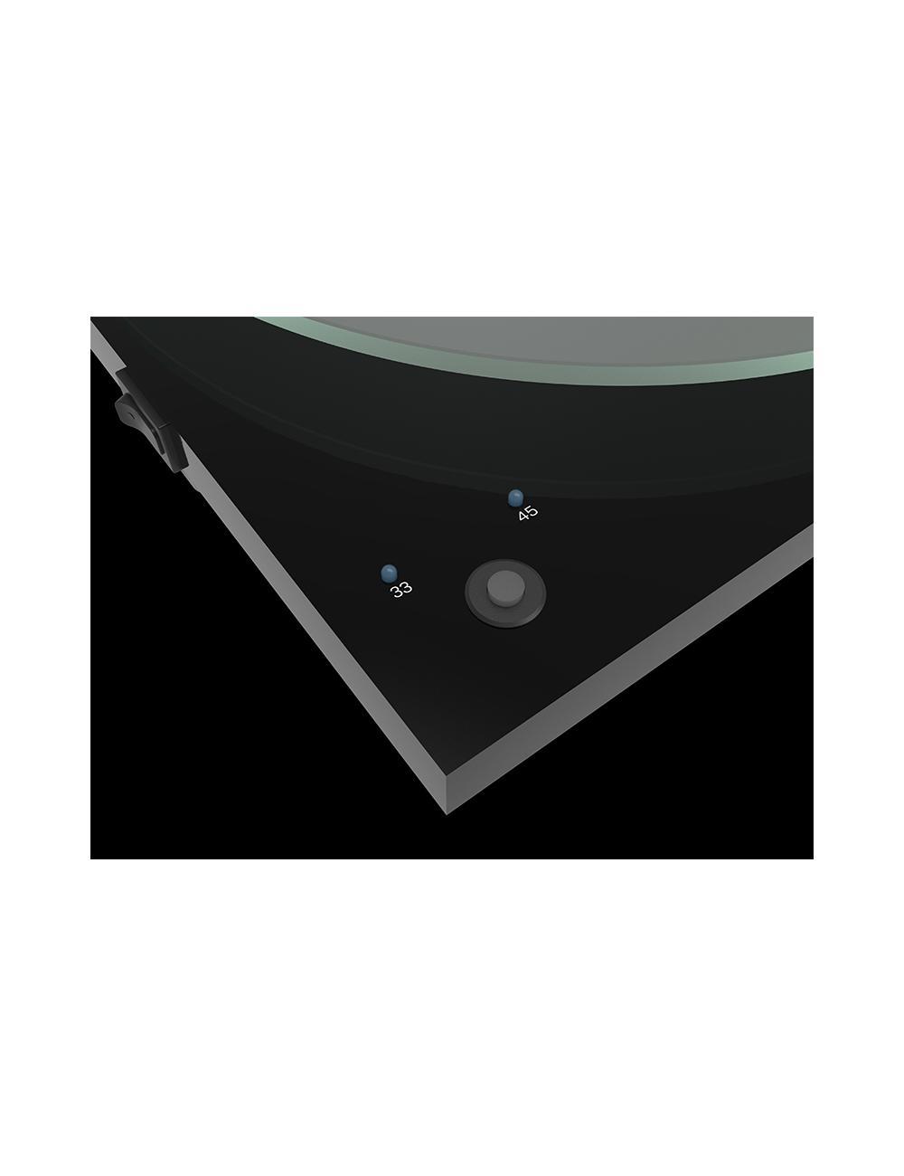 giradischi HiFi Pro-Ject T1 Phono SB con stadio phono, compreso di braccio e di testina Ortofon OM 5E, dettaglio