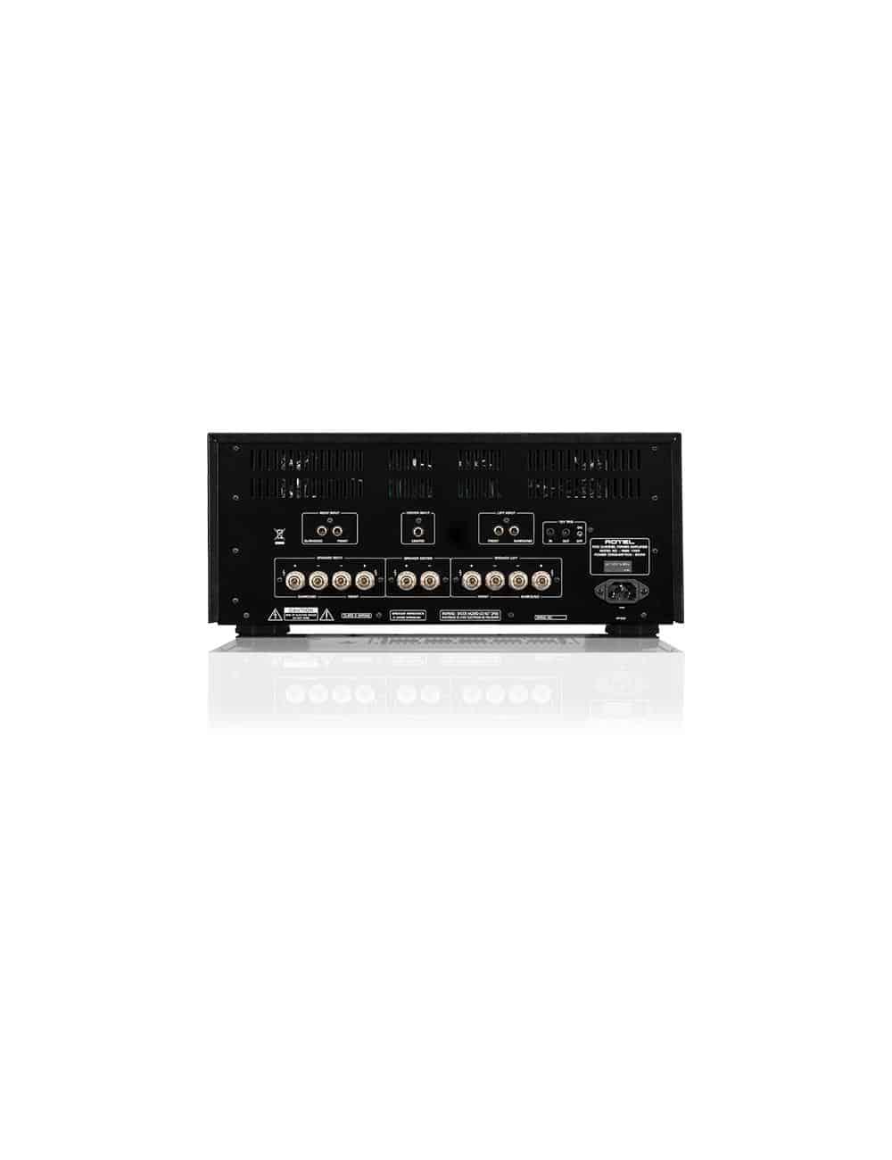amplificatore di potenza multicanale per Home Cinema, cinque canali, Rotel RMB 1555, pannello connessioni