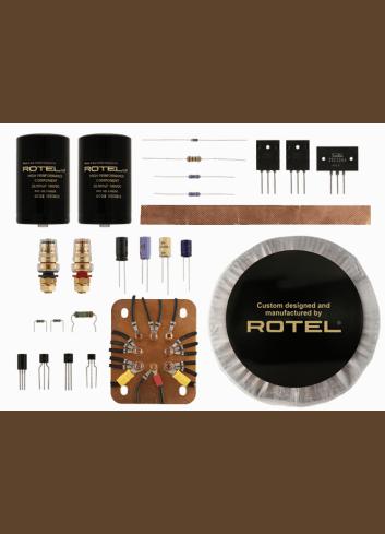 amplificatore di potenza multicanale per Home Cinema, cinque canali, Rotel RMB 1555, componenti