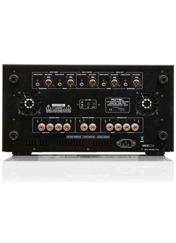 amplificatore di potenza multicanale per Home Cinema, cinque canali, Rotel RMB 1585, pannello connessioni