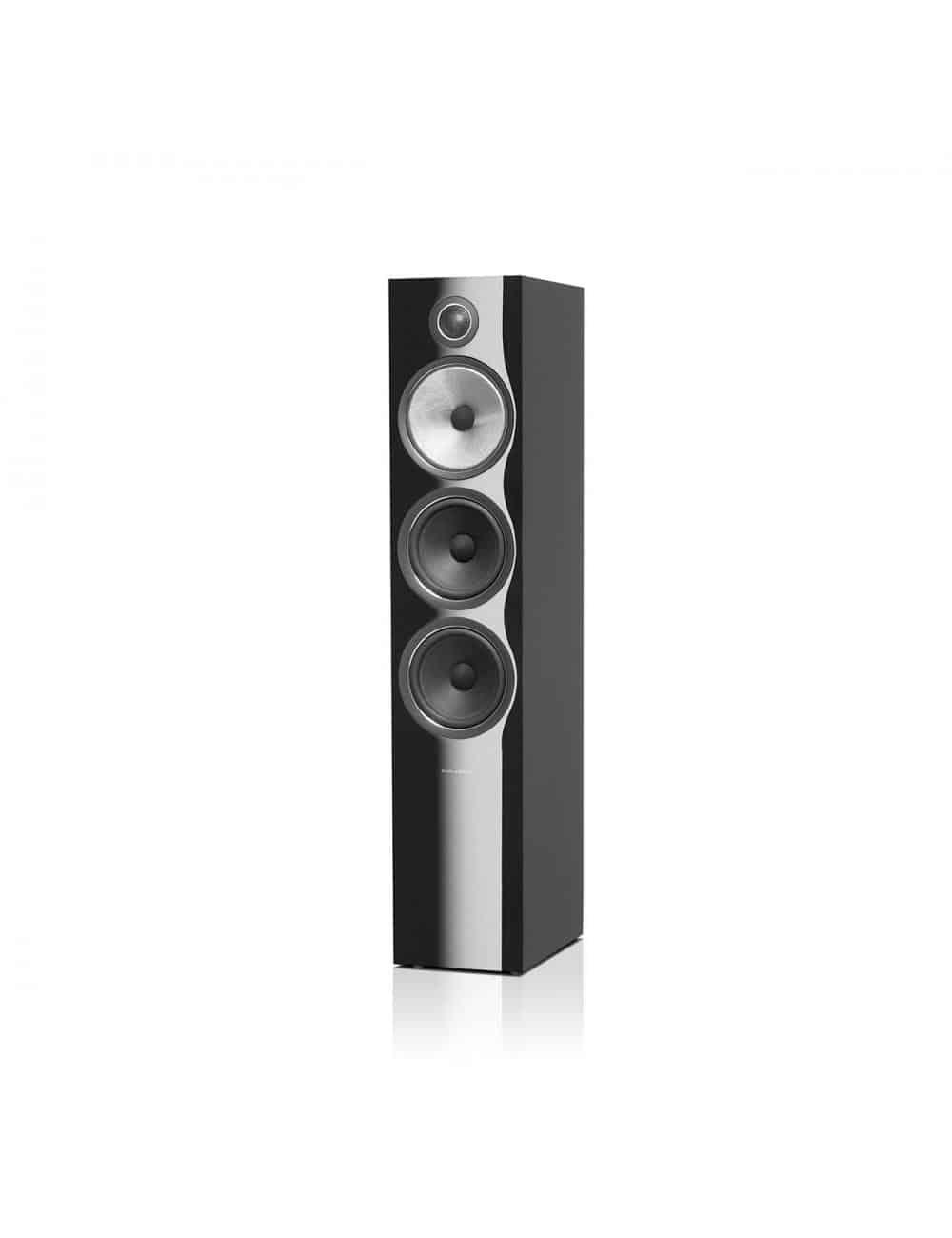 diffusori acustici da pavimento per hifi e home theater, Bowers & Wilkins 703, finitura nero lucido
