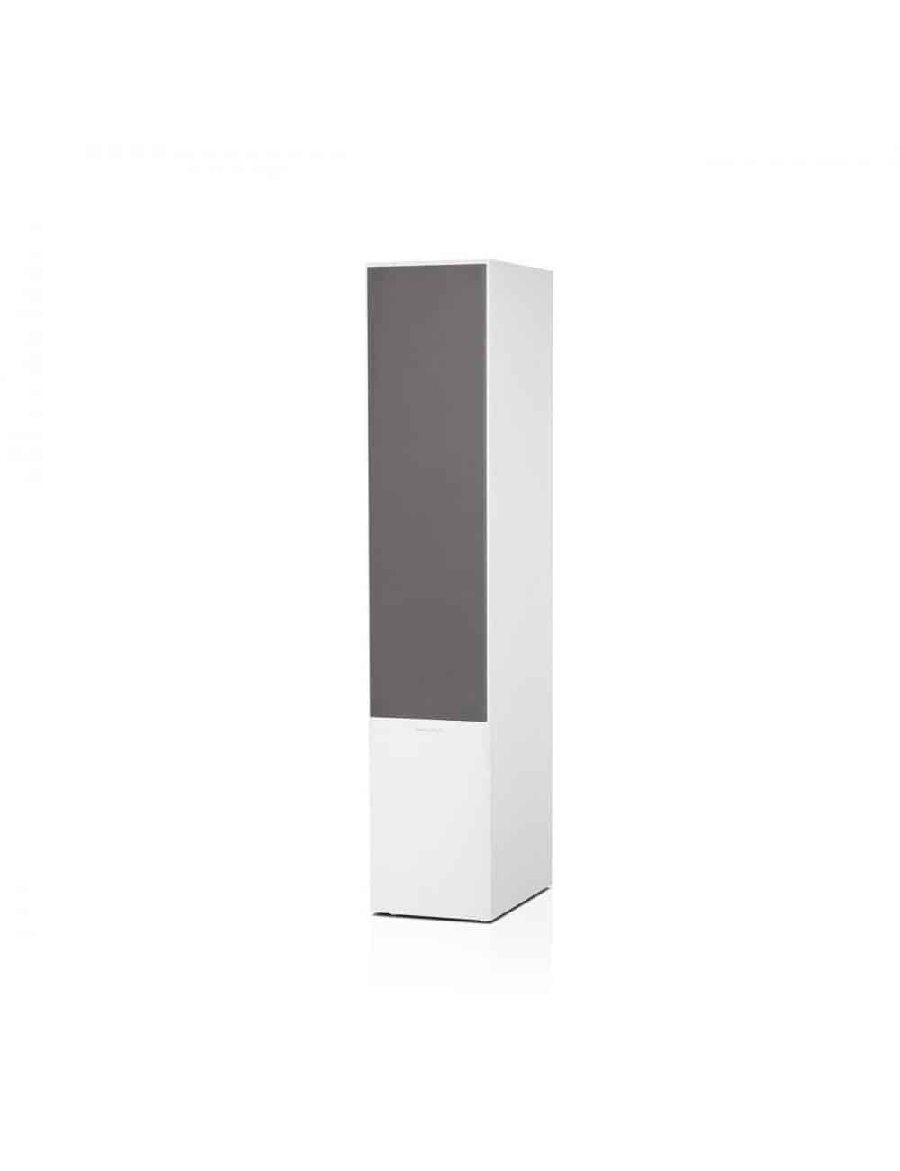 diffusori acustici da pavimento per hifi e home theater, Bowers & Wilkins 703, finitura bianco satinato con griglia