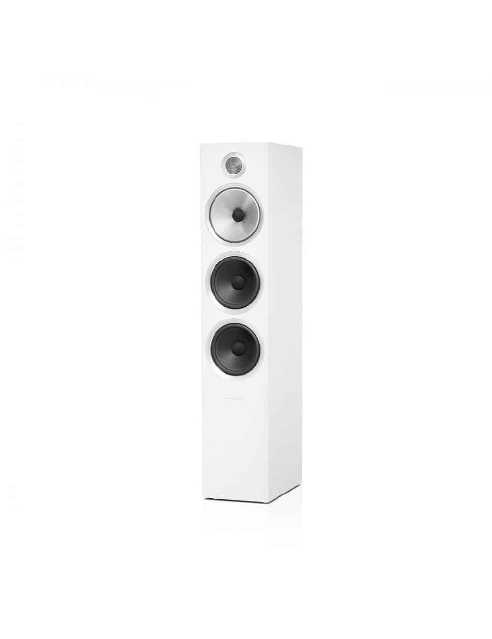 diffusori acustici da pavimento per hifi e home theater, Bowers & Wilkins 703, finitura bianco satinato