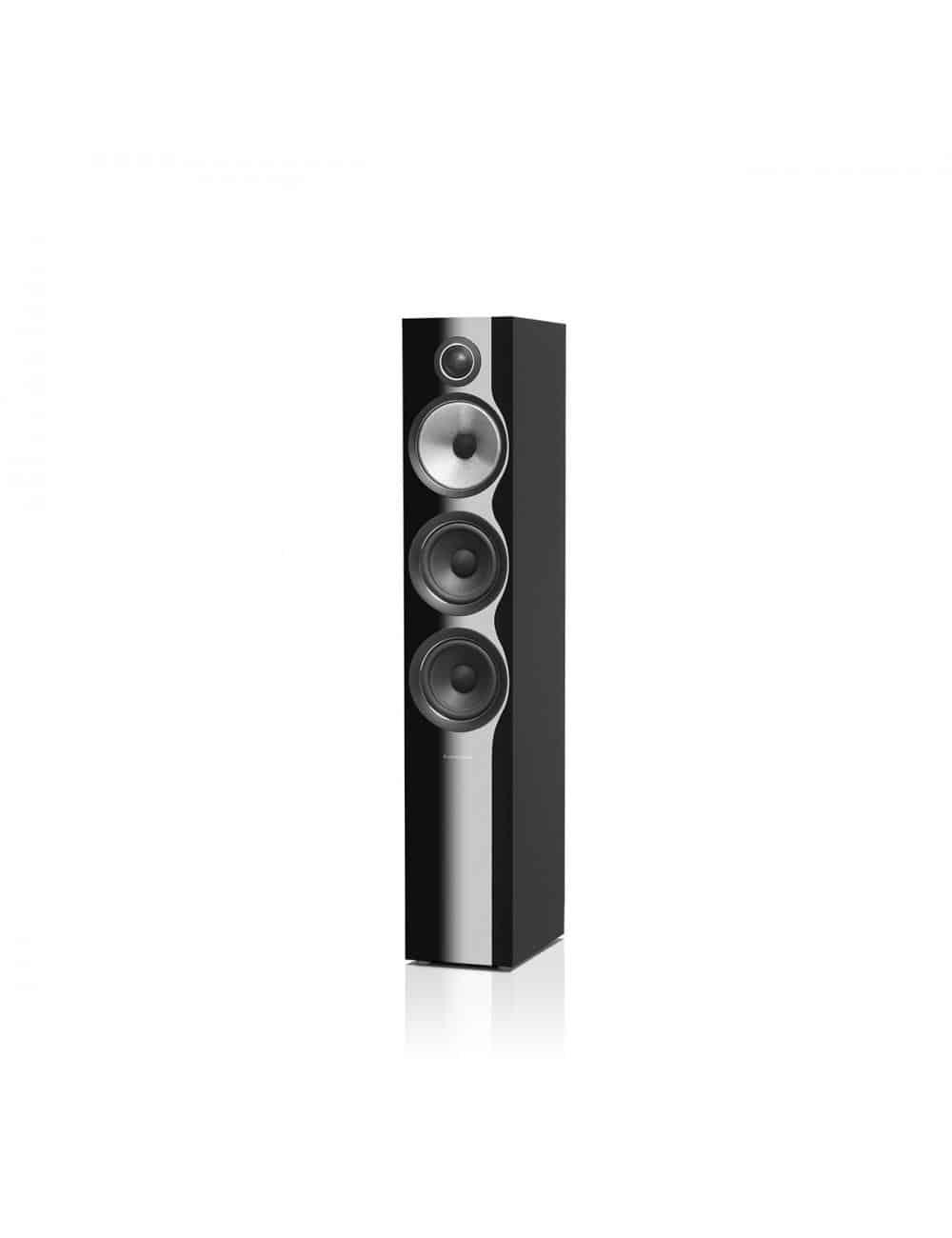 diffusori acustici da pavimento per hifi e home theater, Bowers & Wilkins 704, finitura nero lucido
