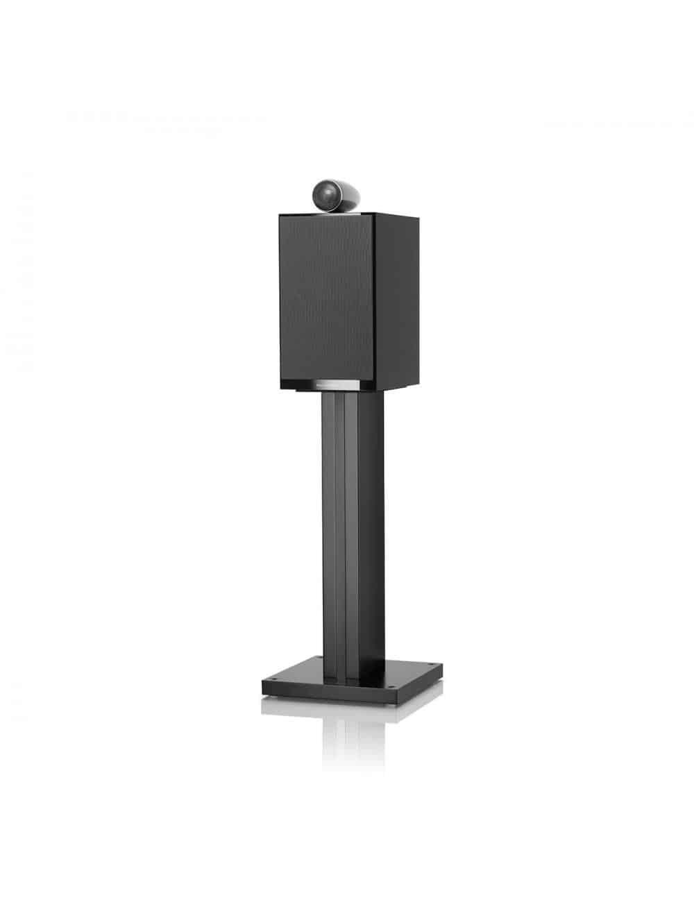 diffusori acustici da stand per hifi e home theater, Bowers & Wilkins 705, finitura nero lucido con griglia