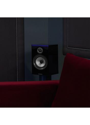 diffusori acustici da stand per hifi e home theater, Bowers & Wilkins 706, finitura nero lucido, surround