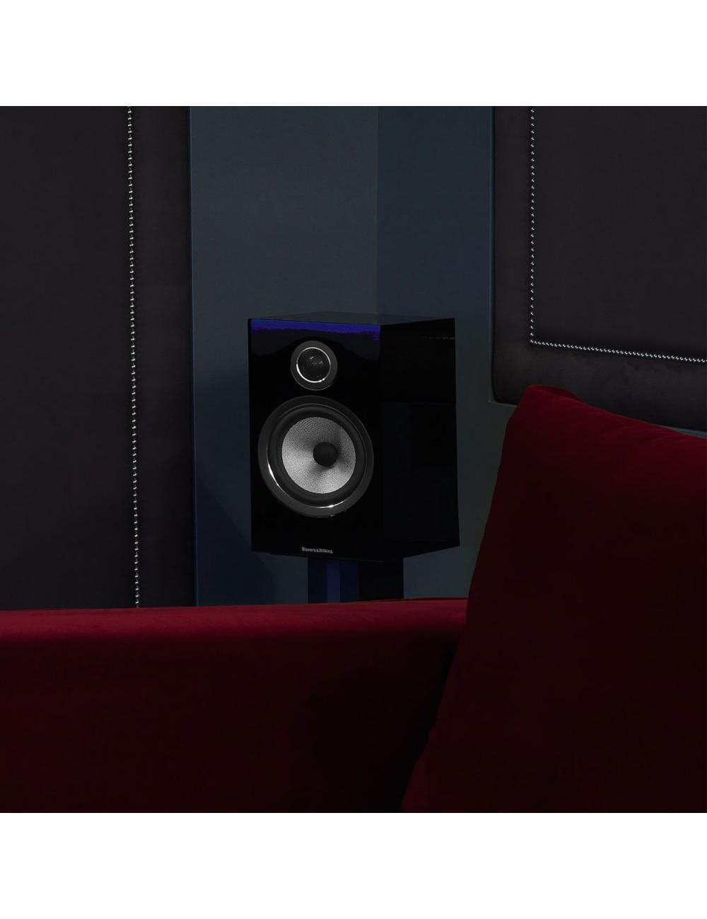 diffusori acustici da stand per hifi e home theater, Bowers & Wilkins 706, finitura nero lucido, surround