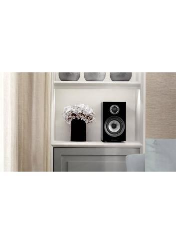 diffusori acustici da stand per hifi e home theater, Bowers & Wilkins 707, finitura nero lucido, libreria