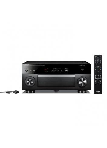 Preamplificatore AV 11.2 canali, uscite bilanciate, 4K Ultra HD con Audio 3D, Yamaha CX-5200, nero, frontale con telecomando
