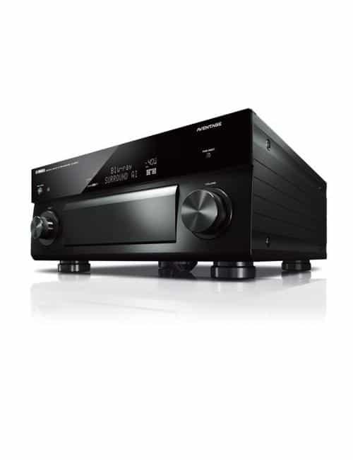 Preamplificatore AV 11.2 canali, uscite bilanciate, 4K Ultra HD con Audio 3D, Yamaha CX-5200, nero