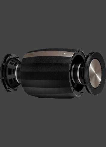 subwoofer amplificato HiFi wireless,  Bowers & Wilkins Formation Bass, vista driver, finitura Nero