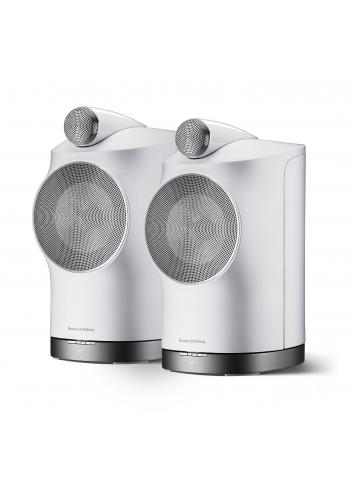 diffusori amplificati HiFi wireless ad alta fedeltà,  Bowers & Wilkins Formation Duo, vista frontale, finitura Bianco