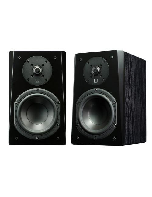 coppia di diffusori acustici da stand o da scaffale per hifi e home theater, SVS Prime Bookshelf, finitura black ask
