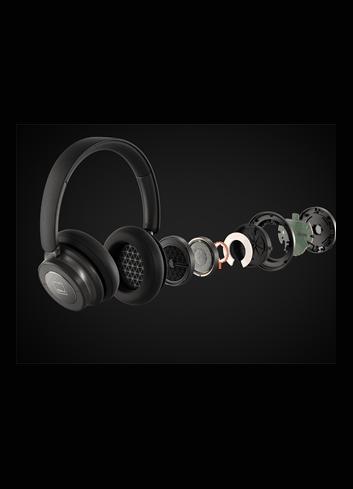 Cuffie over-ear HiFi Bluetooth super confortevoli e con cancellazione del rumore (ANC), DALI IO-6, esplosione