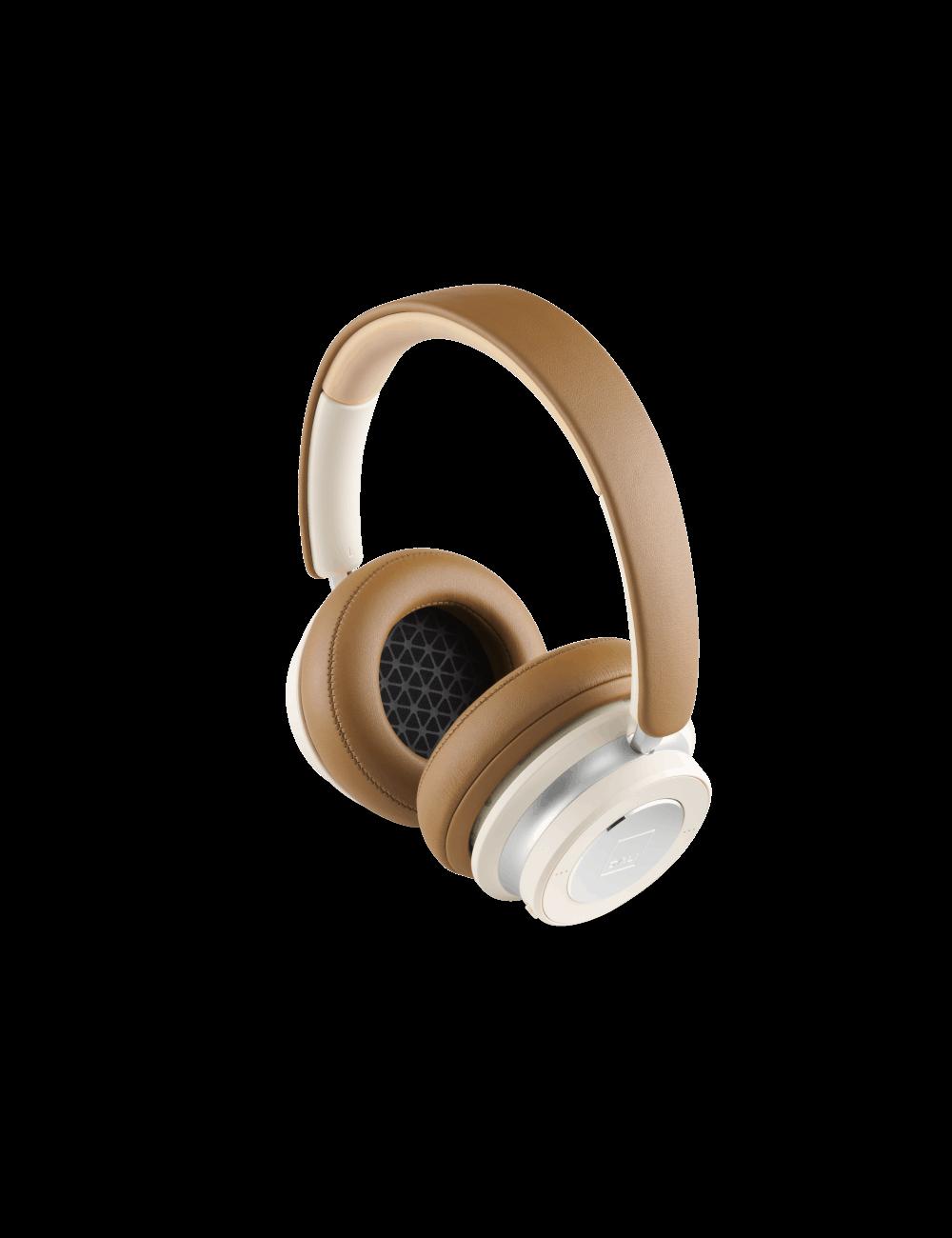 Cuffie over-ear HiFi Bluetooth super confortevoli e con cancellazione del rumore (ANC), DALI IO-6, finitura caramel white