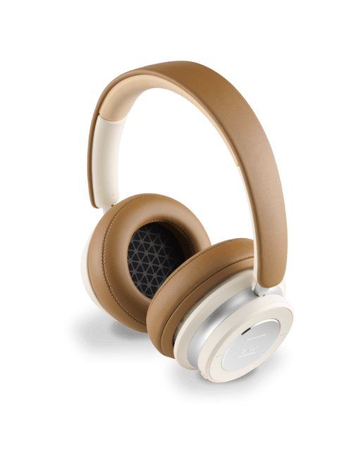 Cuffie over-ear HiFi Bluetooth super confortevoli e con cancellazione del rumore (ANC), DALI IO-6, finitura caramel white