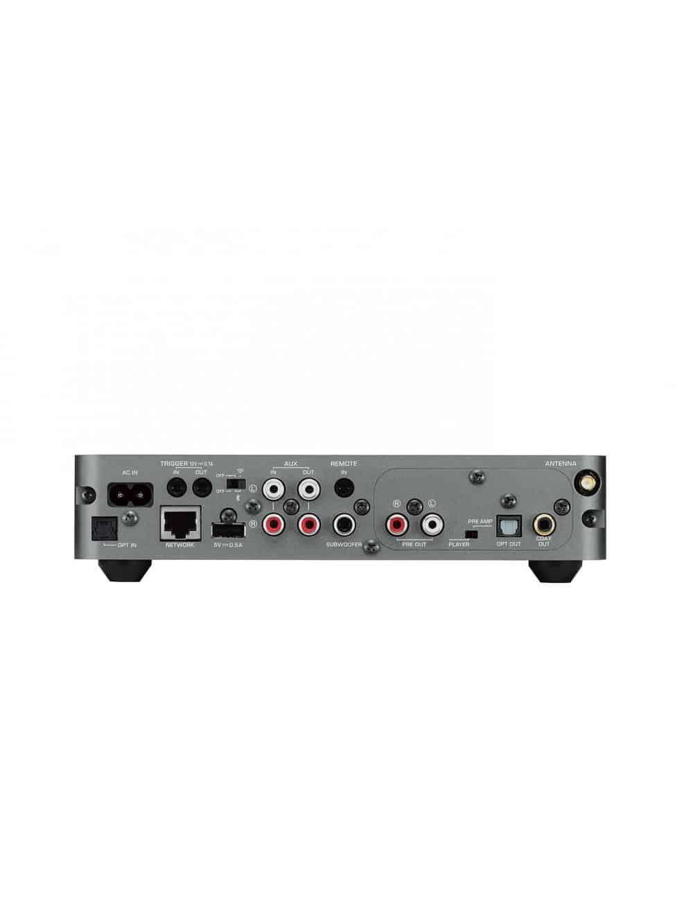 Amplificatore streaming wireless, Yamaha MusicCast WXC-50 compatibile servizio musicale in streaming, connessioni.