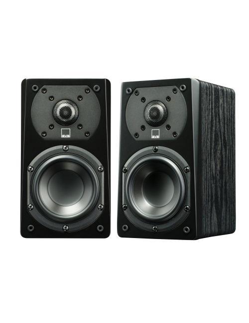 diffusori acustici da stand o da scaffale per hifi e home theater SVS Prime Satellite, finitura black ash