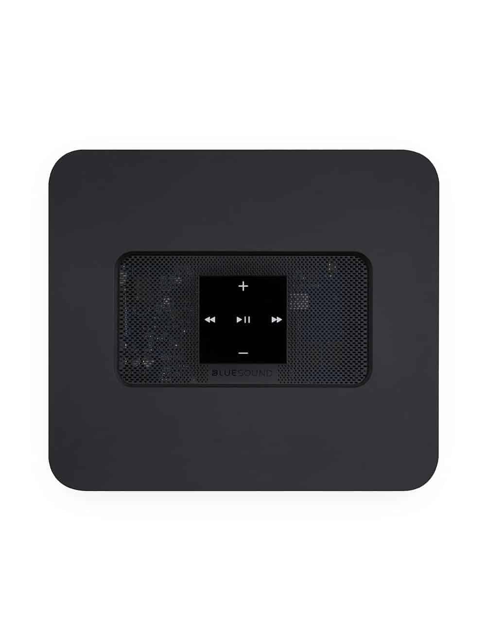 ripper e streamer HiFi con multiroom, Bluesound Vault 2i, vista superiore, finitura nero