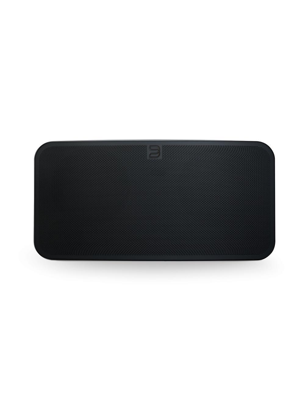 diffusore wireless streaming HiFi, Bluesound Pulse Mini 2i, vista frontale, finitura nero