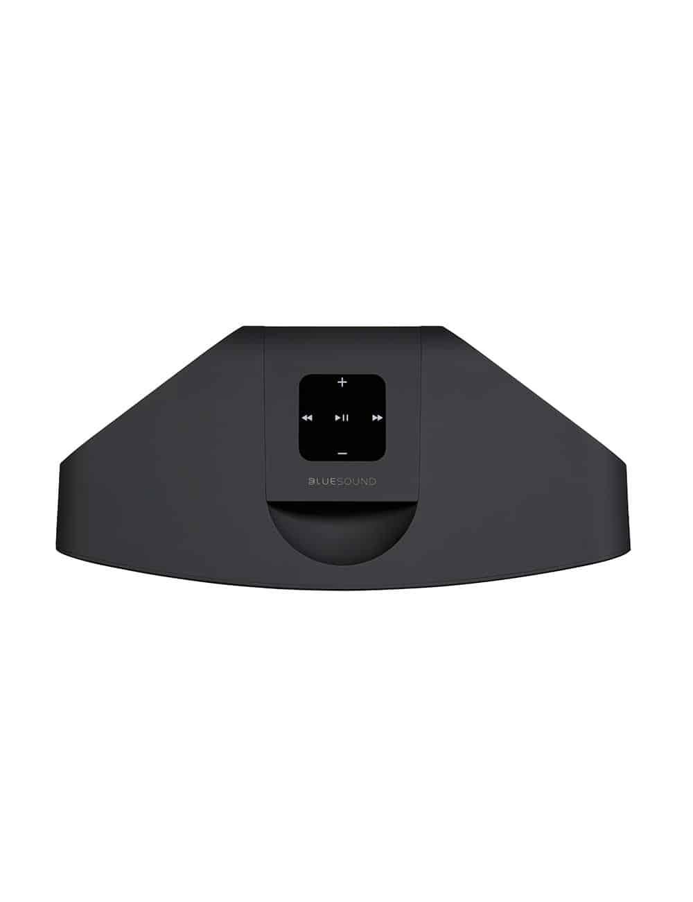 diffusore wireless streaming HiFi, Bluesound Pulse Mini 2i, vista superiore, finitura nero