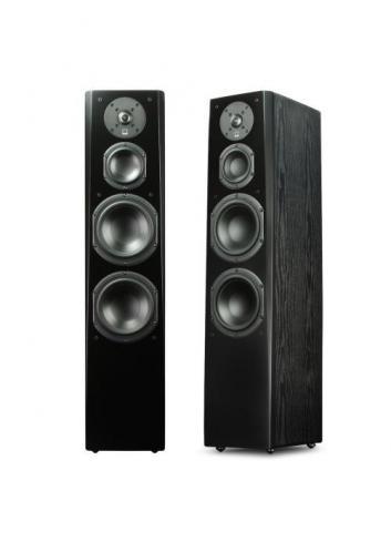 diffusori acustici da pavimento per hifi e home theater, SVS Prime Tower, 4 driver, 3 vie e mezzo, finitura black ash
