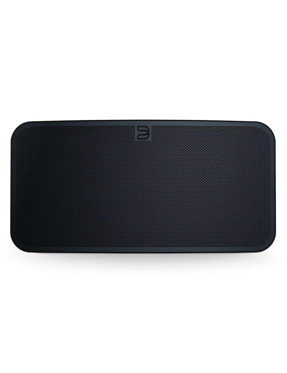 diffusore wireless streaming HiFi, Bluesound Pulse 2i, vista frontale, finitura nero