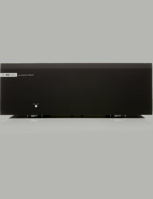 inale di potenza monofonico completamente bilanciato , Musical Fidelity M8s-700m, vista frontale, finitura Nero