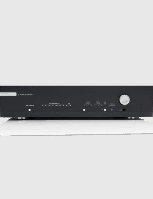 Convertitore DA e pre amplificatore Musical Fidelity M6s DAC, vista frontale, finitura Black