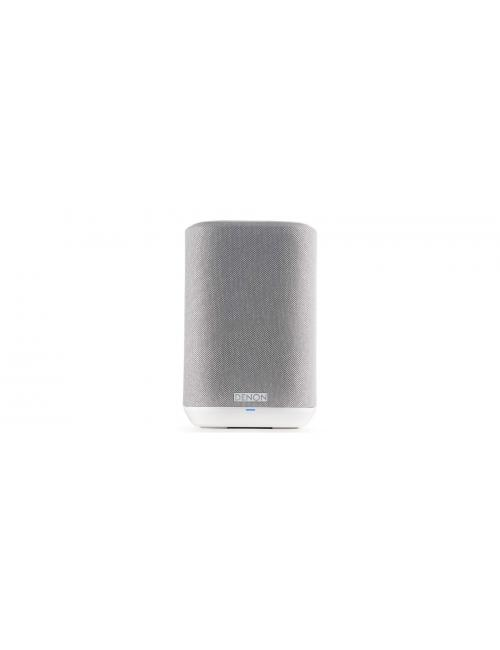 altoparlante wireless supercompatto, Denon Home 150, heos multiroom, bluetooth, finitura tessuto bianco
