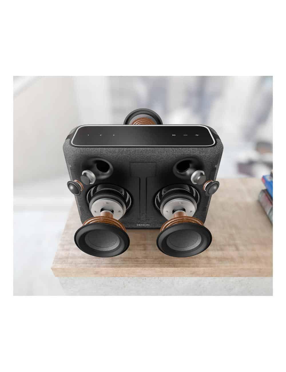 altoparlante wireless supercompatto, Denon Home 250, heos multiroom, bluetooth, finitura tessuto nero, esploso
