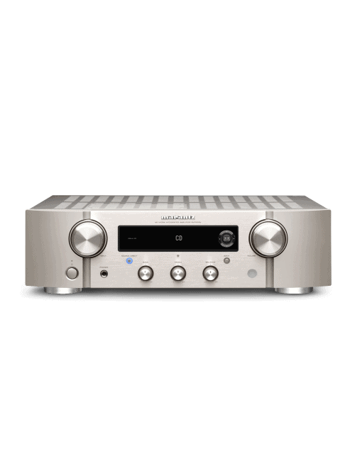 amplificatore integrato HiFi Marantz PM7000N a due canali con HEOS streaming, finitura Silver Gold