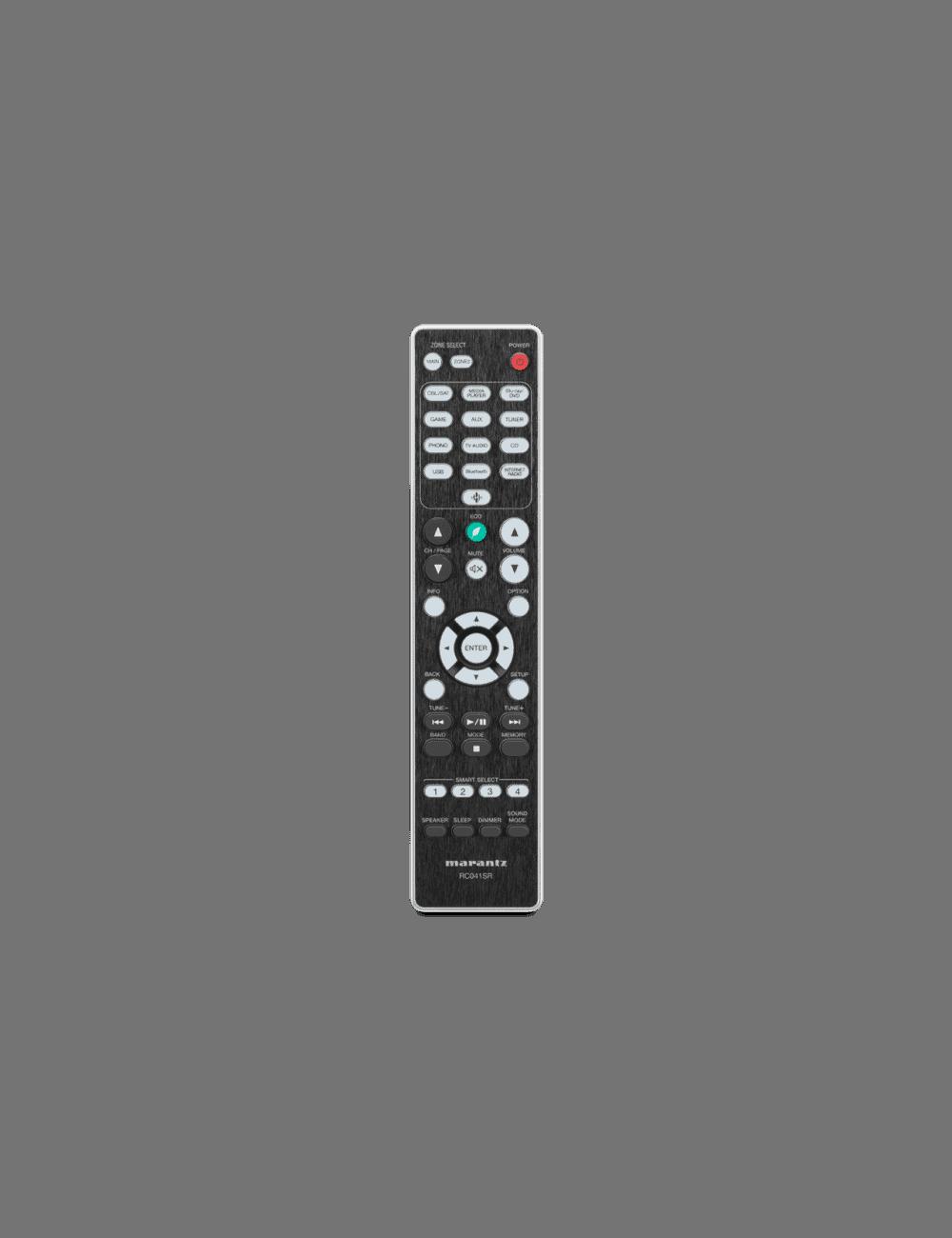 sintoamplificatore integrato HiFi Marantz NR1200 a due canali con HEOS streaming, telecomando