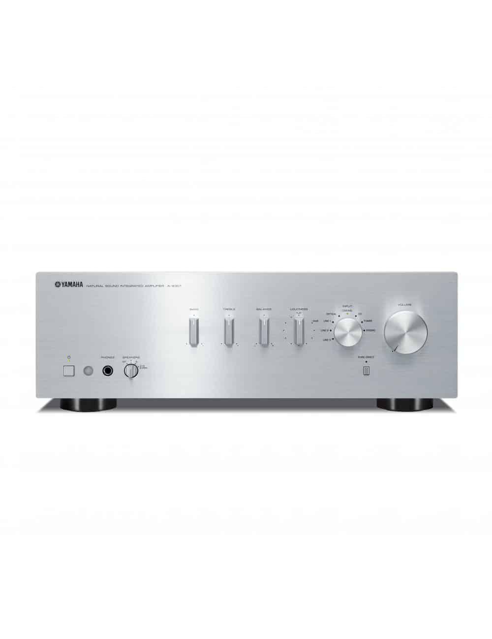 amplificatore integrato HiFi Yamaha A-S301, finitura  titanium