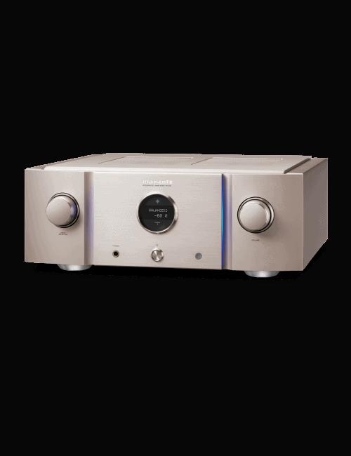 amplificatore integrato HiFi di riferimento Marantz PM-10 a due canali completamente bilanciato, finitura Silver Gold