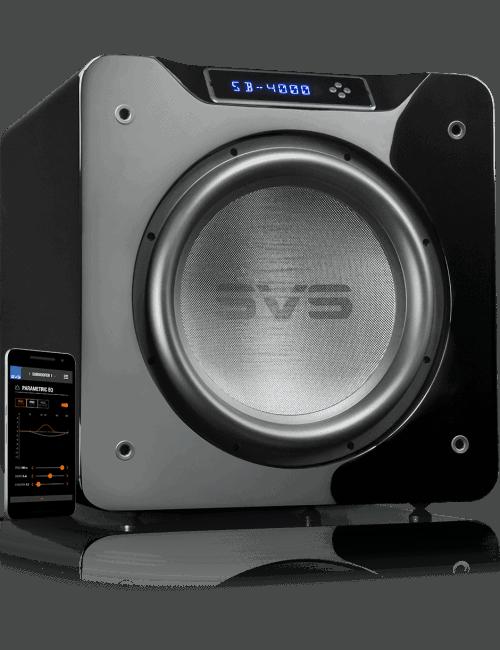 Subwoofer amplificato in sospensione pneumatica, SVS SB 4000, piano black