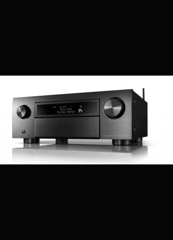 Sintoamplificatore AV 11.2 canali 8K Ultra HD con Audio 3D e HEOS, Denon AVR-X6700H, finitura Black