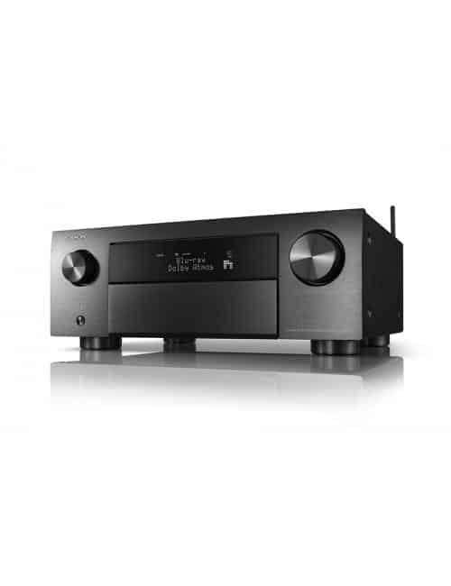 Sintoamplificatore AV 9.2 canali 8K Ultra HD con Audio 3D e HEOS, Denon AVC-X4700H, finitura Black
