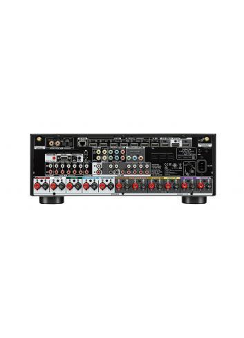 Sintoamplificatore AV 9.2 canali 8K Ultra HD con Audio 3D e HEOS, Denon AVC-X3700H, pannello connessioni