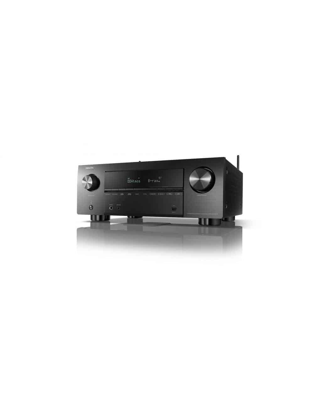 Sintoamplificatore AV 9.2 canali 8K Ultra HD con Audio 3D e HEOS, Denon AVC-X3700H