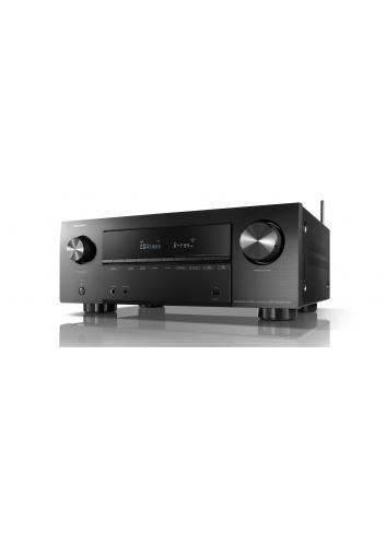 Sintoamplificatore AV 7.2 canali 8K Ultra HD con Audio 3D e HEOS, Denon AVC-X2700H DAB