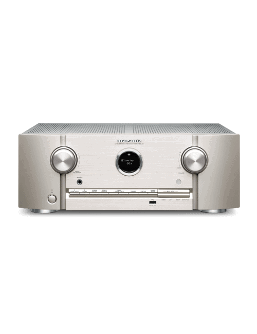 Sintoamplificatore audio video Marantz SR5015 DAB a 7.2 Canali 8K Ultra HD con HEOS, finitura Silver Gold