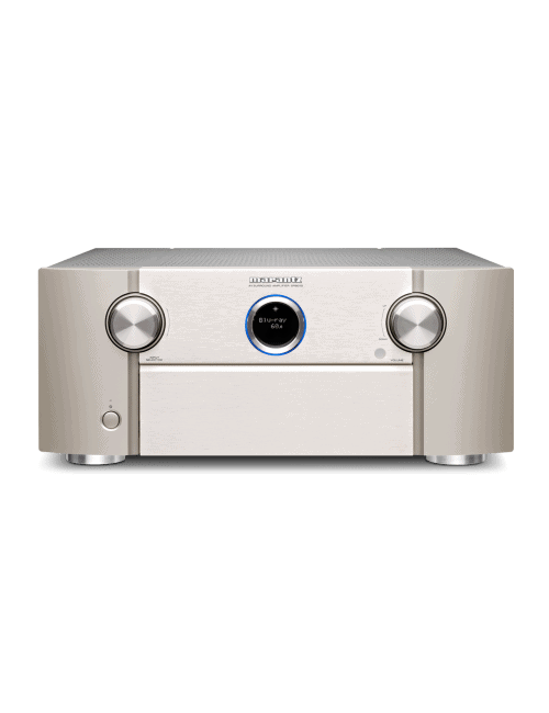 Amplificatore audio video Marantz SR8015 a 11.2 Canali 8K Ultra HD con HEOS, finitura Silver Gold