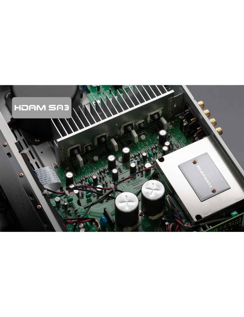 amplificatore integrato con connettività digitale HiFi Marantz PM6007 a due canali, vista interno