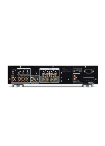 amplificatore integrato con connettività digitale HiFi Marantz PM6007 a due canali, vista pannello connessioni posteriore