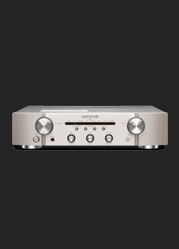 amplificatore integrato con connettività digitale HiFi Marantz PM6007 a due canali, finitura Silver Gold