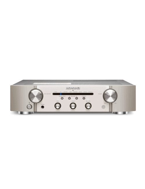 amplificatore integrato con connettività digitale HiFi Marantz PM6007 a due canali, finitura Silver Gold