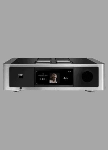 amplificatore integrato HiFi, NAD M33 BluOS Streaming DAC Amplifier, serie Master, vista frontale