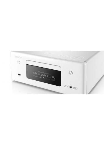 Denon CEOL N11DAB, sistema audio amplificato con Sintonizzatore DAB+ e FM -Lettore CD, Potenza 2x 30 W, finitura bianco